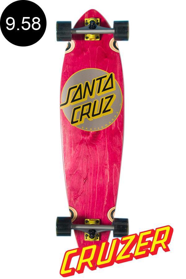 【SANTA CRUZ サンタクルーズ】9.58in x 39.0in CLASSIC DOT PINTAIL CRUZERクルーザー コンプリート(完成組立品) スケートボード ピンテール ロングボード オフトレ スケボー sk8 skateboard【1807】