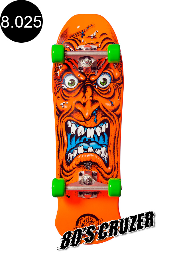 【SANTA CRUZ サンタクルーズ】8.025in x 26.0in ROSKOPP FACE MINI 80'S CRUZER ORANGEクルーザー オレンジ コンプリート(完成組立品) ロブ・ロスコップ オールドスクール スケートボード KRUX スケボー sk8 skateboard【1812】