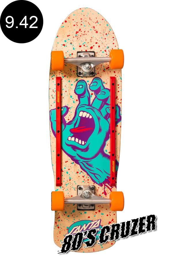 【初売り】 【SANTA CRUZ サンタクルーズ ロングボード オフトレ】9.42in x 31.88in CRUZER SCREAMING HAND 80'S CRUZER NATURALクルーザー コンプリート(完成組立品) スクリーミングハンド オールドスクール スケートボード KRUX レール付 ロングボード オフトレ スケボー skateboard【1812】, 唐津市:2d5a8c17 --- slope-antenna.xyz