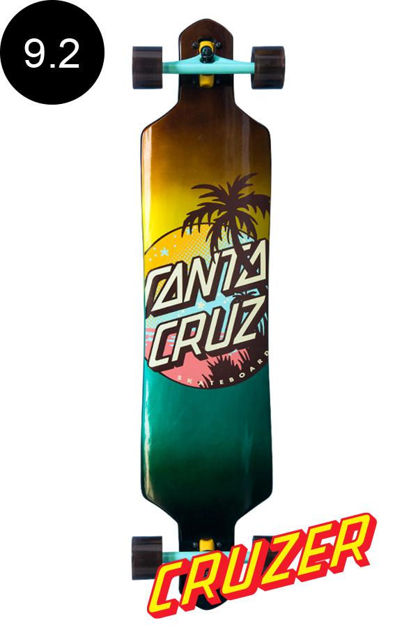 【SANTA CRUZ サンタクルーズ】9.2in x 41in PALM DOT DROP DOWN CRUZERクルーザー コンプリート(完成組立品) スケートボード ドロップダウン ダウンヒル ロングボード オフトレ【1903】