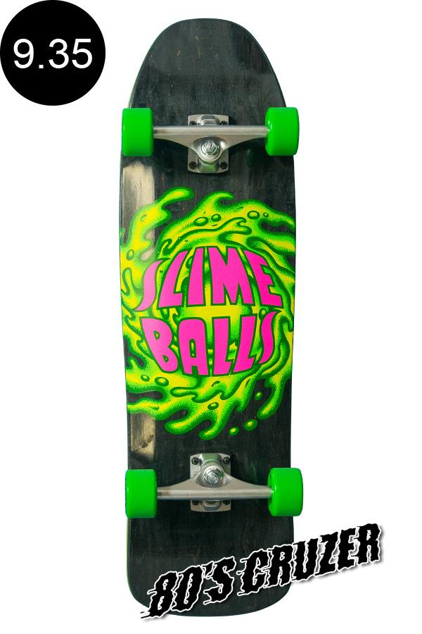 【SANTA CRUZ サンタクルーズ】9.35in x 31.7in SLIMEBALLS LOGO 80'S CRUZERクルーザー コンプリート(完成組立品) スライムボール オールドスクール スケートボード KRUX ロングボード オフトレ スケボー sk8 skateboard【1903】