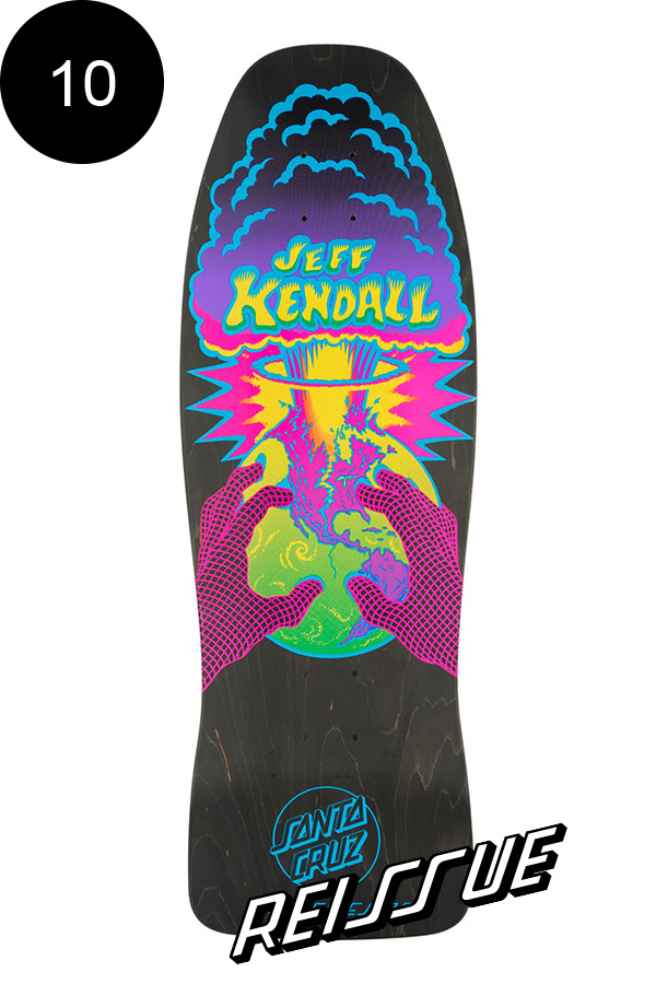 【SANTA CRUZ サンタクルーズ】10in x 29.7in KENDALL END OF THE WORLD MATTE FINISH BLACK STAIN REISSUE DECKデッキ ジェフ・ケンダル Jeff Kendal オールドスクール 復刻 スケートボード スケボー【1904】
