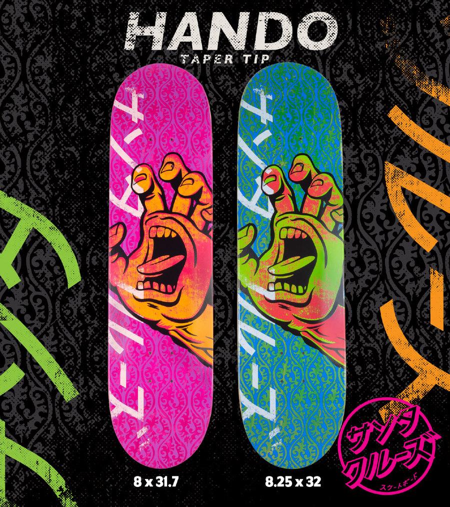 064ceb0ec8 【SANTA CRUZ サンタクルーズ】8.0in x 31.7in HANDO TAPER TIP TEAM DECKデッキ スケートボード  スケボー ストリート sk8 ...