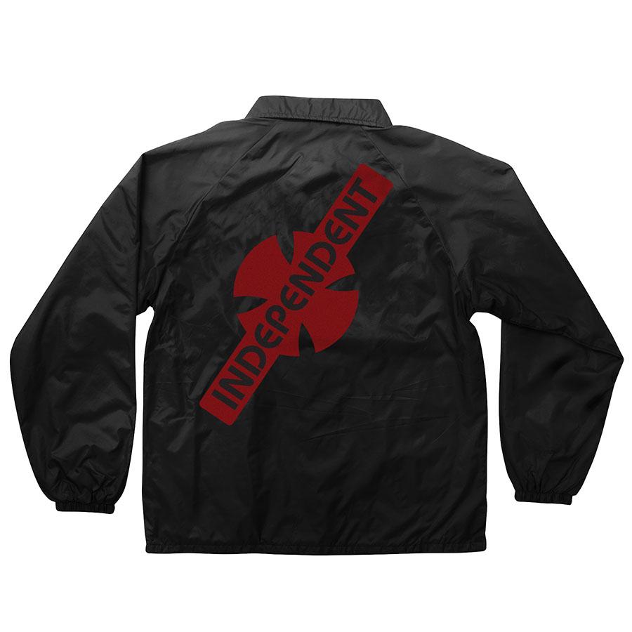【INDEPENDENT インディペンデント】GENERATION B/C COACH WINDBREAKER JACKET MENS BLACKコーチジャケット ブラック ウィンドブレーカー スケートボード スケボー sk8 skateboard【18FW】