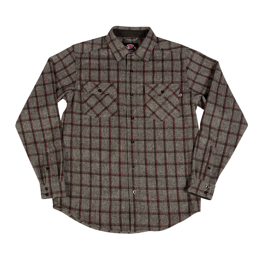 【INDEPENDENT インディペンデント】CHAINSAW L/S BUTTON UP MENSロングスリーブボタンシャツ 長袖シャツ メンズ スケートボード スケボー sk8 skateboard【19HD】