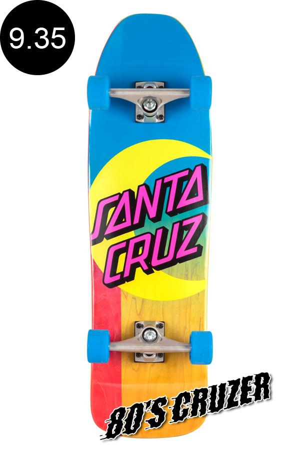 【SANTA CRUZ サンタクルーズ】9.35in x 31.7in MOON DOT 80'S CRUZERクルーザー コンプリート(完成組立品) スライムボール オールドスクール スケートボード KRUX ロングボード オフトレ スケボー sk8 skateboard【1910】