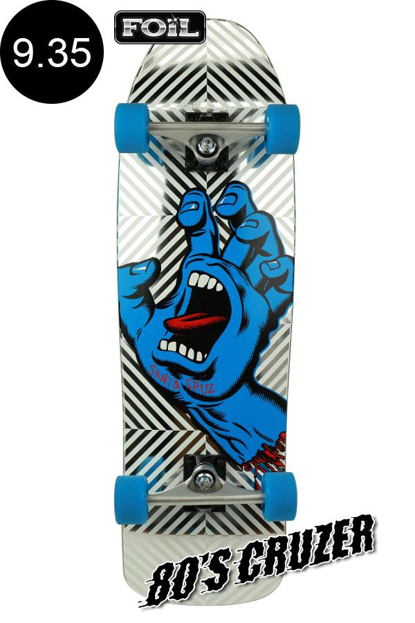 【SANTA CRUZ サンタクルーズ】9.35in x 31.7in SCREAMING HAND FOIL 80'S CRUZERクルーザー コンプリート(完成組立品) スライムボール オールドスクール スケートボード KRUX ロングボード オフトレ スケボー sk8 skateboard【2001】