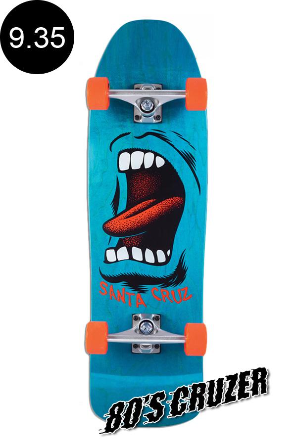【SANTA CRUZ サンタクルーズ】9.35in x 31.7in BIG MOUTH 80'S CRUZERクルーザー コンプリート(完成組立品) スライムボール オールドスクール スケートボード KRUX ロングボード オフトレ スケボー sk8 skateboard【1912】
