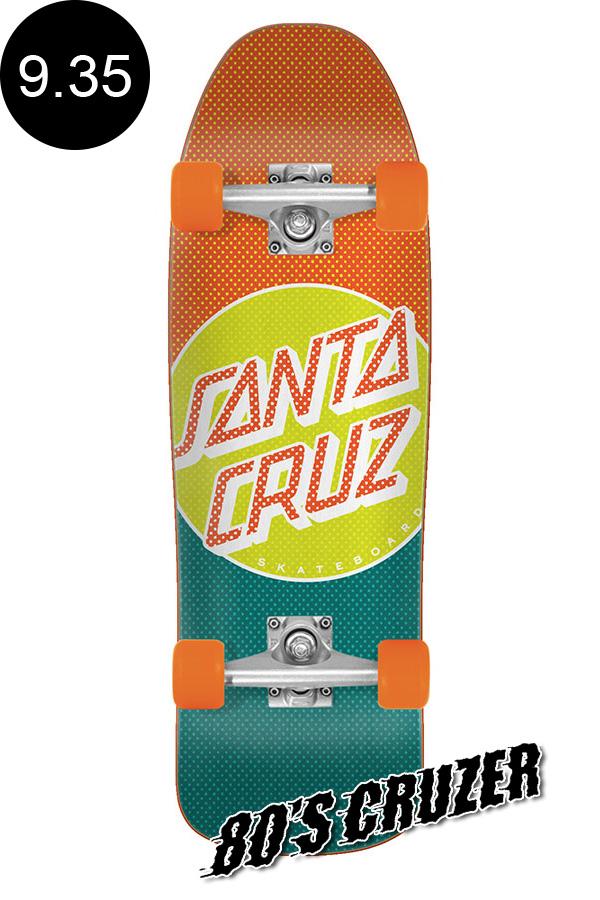 【SANTA CRUZ サンタクルーズ】9.35in x 31.7in PROCESS DOT 80'S CRUZERクルーザー コンプリート(完成組立品) スライムボール オールドスクール スケートボード KRUX ロングボード オフトレ スケボー sk8 skateboard【1912】