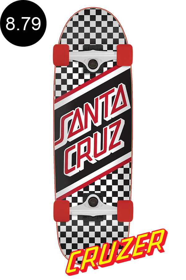 【SANTA CRUZ サンタクルーズ】8.79in x 29.05in STREET SKATE CHECK CRUZERクルーザー コンプリート(完成組立品) オールドスクール スケートボード ロングボード オフトレ クルーズ スケボー skateboard【2006】