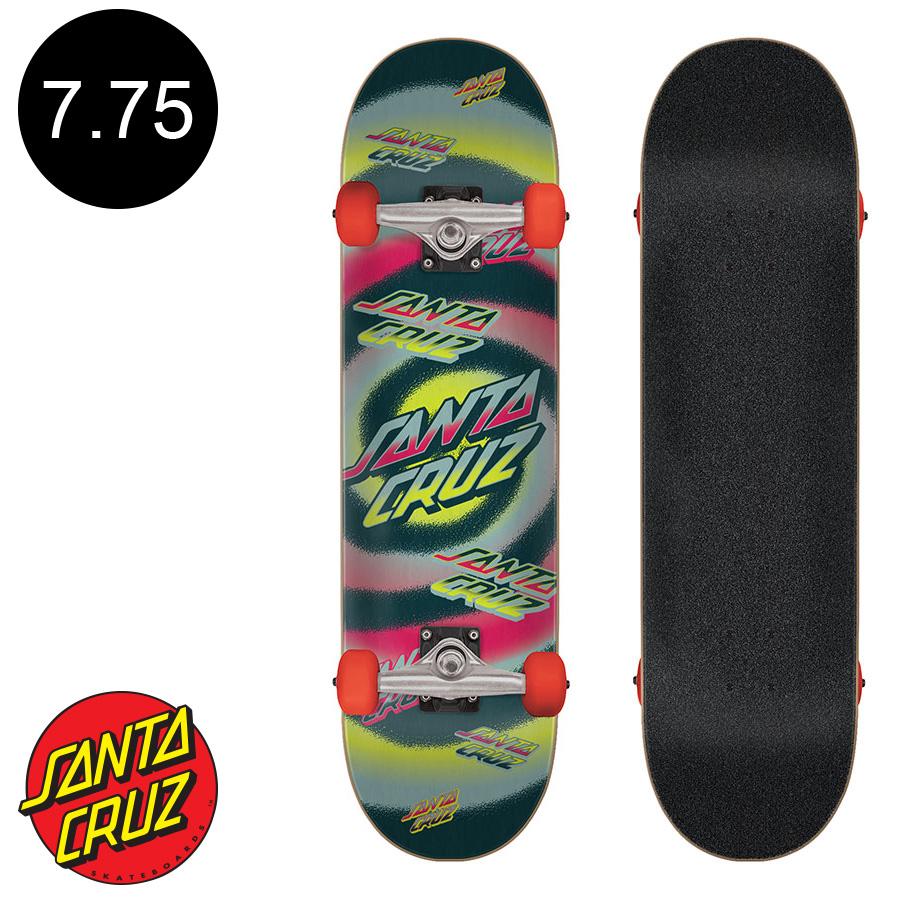 【SANTA CRUZ サンタクルーズ】7.75in x 31.4in HYPNO DOT COMPLETEコンプリート(完成組立品) スケートボード エントリーモデル(初心者にもおすすめ)スケボー ストリート sk8 skateboard【2001】