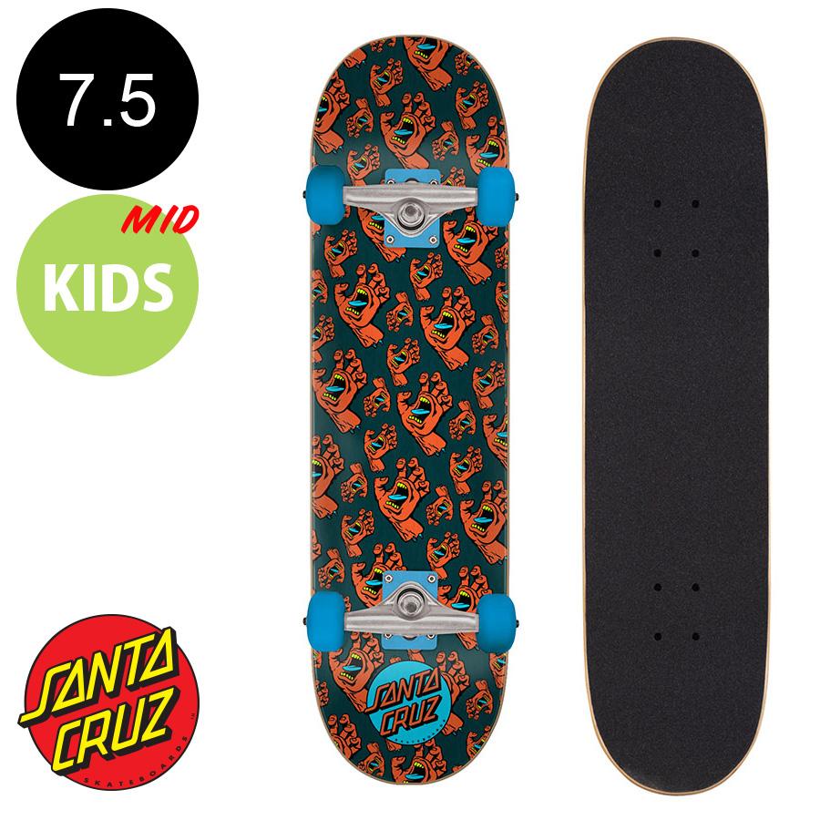 【SANTA CRUZ サンタクルーズ】7.5in x 30.6in HANDS ALLOVER SK8 COMPLETE※7~10歳前後推奨 コンプリート(完成組立品) スケートボード(初心者にもおすすめ)スクリーミングハンド かわいい 初めて スケボー ストリート sk8 skateboard【2005】
