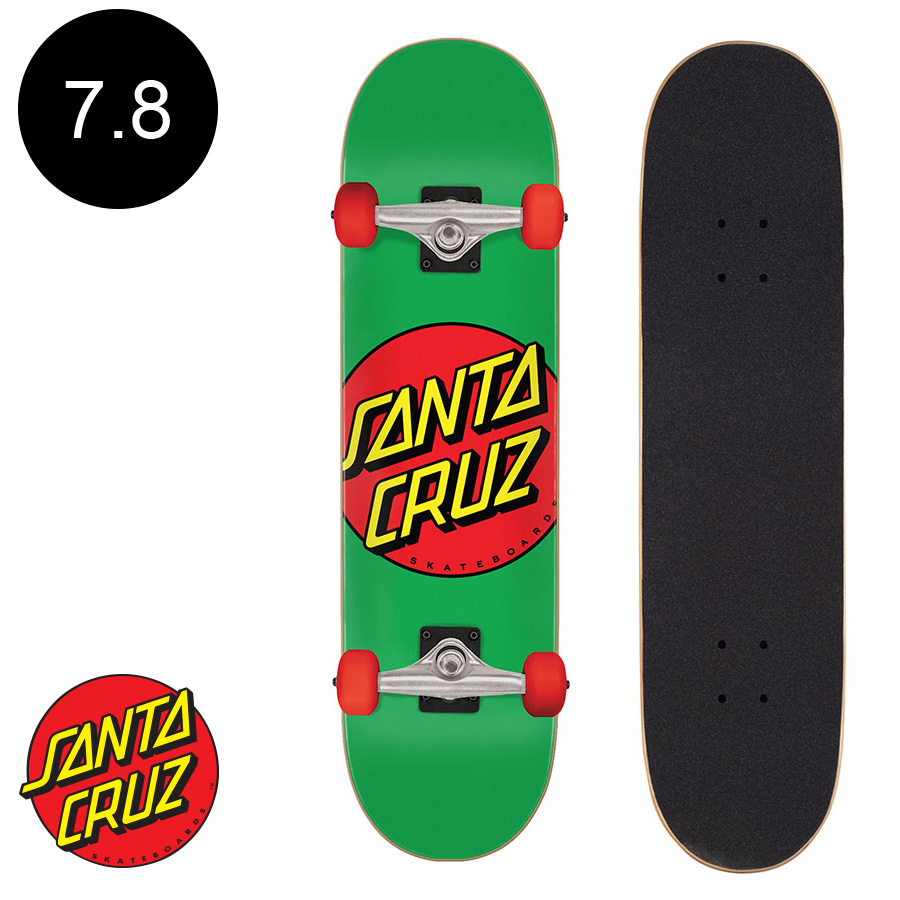 【SANTA CRUZ サンタクルーズ】7.8in x 31in CLASSIC DOT SK8 COMPLETEコンプリート (完成組立品) スケートボード エントリーモデル 初心者 おすすめ 初めて スケボー ストリート sk8 skateboard【2007】