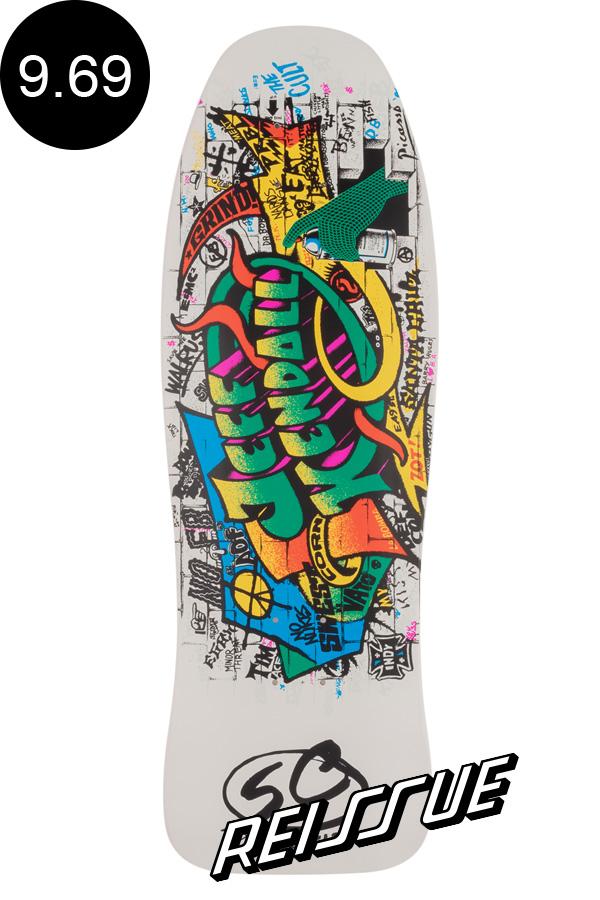 【SANTA CRUZ サンタクルーズ】9.69in x 29.85in KENDALL GRAFFITI REISSUE DECKデッキ ジェフ・ケンダル Jeff Kendal オールドスクール 復刻 スケートボード スケボー【1909】