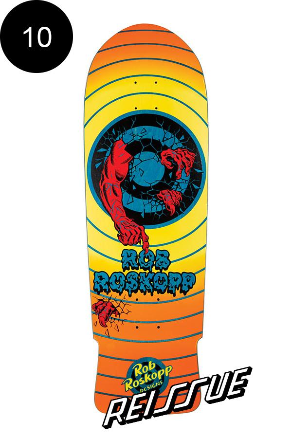 【SANTA CRUZ サンタクルーズ】10in x 31.4in ROSKOPP ROB TARGET 2 REISSUE DECKデッキ ロブ・ロスコップ オールドスクール 復刻 スケートボード スケボー【1909】