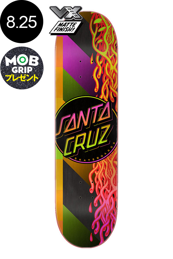 【SANTA CRUZ サンタクルーズ】8.25in x 31.8in AFTERGLOW DOT VX TEAM DECKチームデッキ スケートボード スケボー ストリート sk8 skateboardデッキテーププレゼント!【2001】