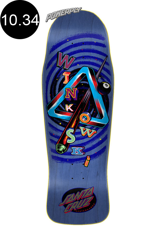 【SANTA CRUZ サンタクルーズ】10.34in x 30.54in WINKOWSKI EIGHTH DIMENSION POWERPLYPRE ISSUE PRO DECKデッキ パワープライ エリック・ウィンコウスキ スケートボード スケボー ストリート sk8 skateboard【2001】