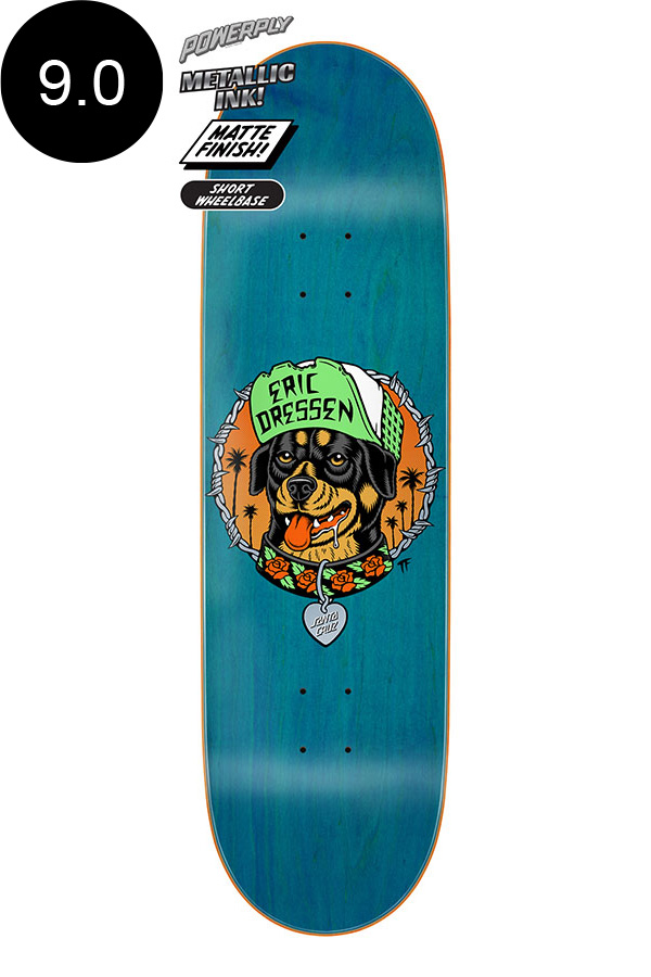 【SANTA CRUZ サンタクルーズ】9.0in x 32.15in DRESSEN GOOD DOG POWERPLY PRO DECKデッキ エリック・ドレッセン スケートボード スケボー ストリート sk8 skateboard【2007】