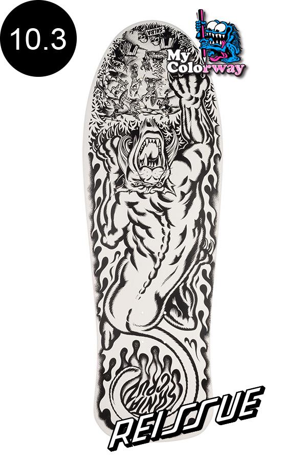 【SANTA CRUZ サンタクルーズ】10.3in x 31.1in SALBA TIGER MY COLORWAY REISSUE DECKデッキ スティーブ・アルバ ジム・フィリップス オールドスクール 復刻 スケートボード スケボー【2004】
