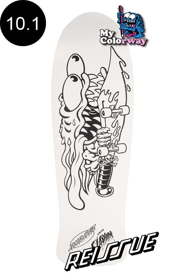【SANTA CRUZ サンタクルーズ】10.1in x 31.13in MEEK SLASHER MY COLORWAY REISSUE DECKデッキ スラッシャー キース・ミーク オールドスクール 復刻 スケートボード スケボー【2004】