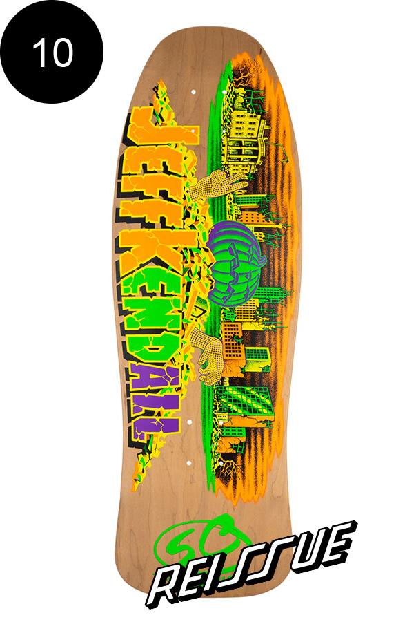 【SANTA CRUZ サンタクルーズ】10in x 30.12in KENDALL PUMPKIN REISSUE DECKデッキ ジェフ・ケンダル Jeff Kendal オールドスクール 復刻 スケートボード スケボー【2007】