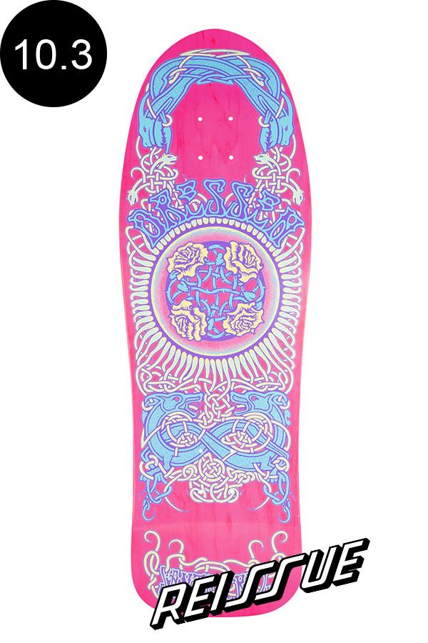 【SANTA CRUZ サンタクルーズ】10.3in x 31.64in DRESSEN ROSES REISSUE DECKデッキ エリック・ドレッセン オールドスクール 復刻 スケートボード スケボー【2007】