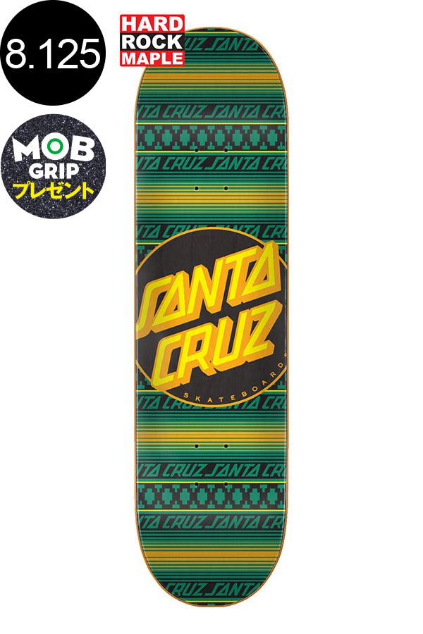 【SANTA CRUZ サンタクルーズ】8.125in x 31.7in SERAPE DOT TEAM DECKデッキ スケートボード スケボー ストリート sk8 skateboardデッキテーププレゼント!!【2001】