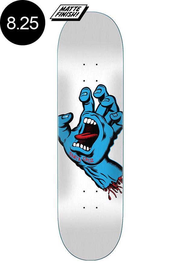 【SANTA CRUZ サンタクルーズ】8.25in x 31.8in SCREAMING HAND WHITE TEAM DECKデッキ スクリーミングハンド 定番 オススメ 初心者 スケートボード スケボー ストリート sk8 skateboard【2007】