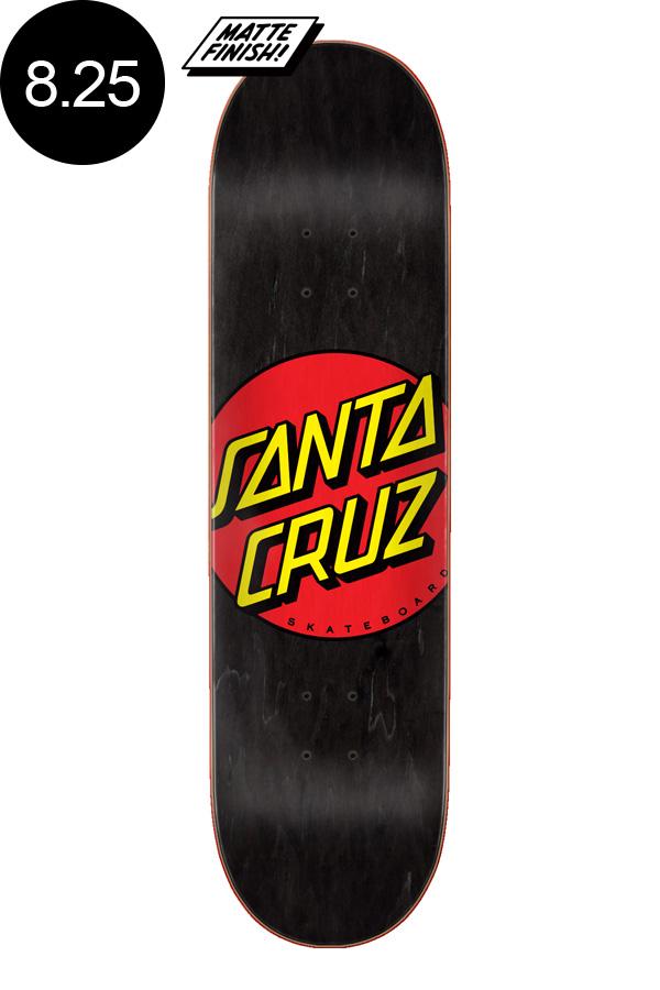【SANTA CRUZ サンタクルーズ】8.25in x 31.8in CLASSIC DOT BLACK TEAM DECKデッキ クラシックドット 定番 オススメ 初心者 スケートボード スケボー ストリート sk8 skateboard【2007】