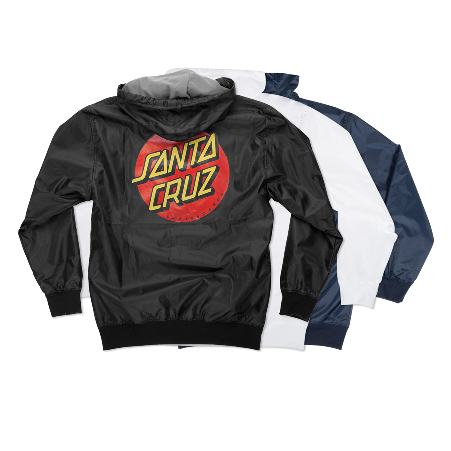 【SANTA CRUZ サンタクルーズ】DOT HOODED WINDBREAKER MENSジャケット フード ウインドブレーカー ジャンパー スケートボード スケボー sk8 skateboard【20SS】(CP)
