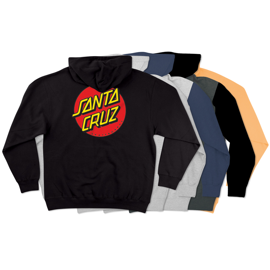 【SANTA CRUZ サンタクルーズ】CLASSIC DOT PULLOVER HOODED HEAVYWEIGHT SWEATSHIRT MENSプルオーバーパーカー フード P/O スケートボード スケボー sk8 skateboard【19FW】(CP)