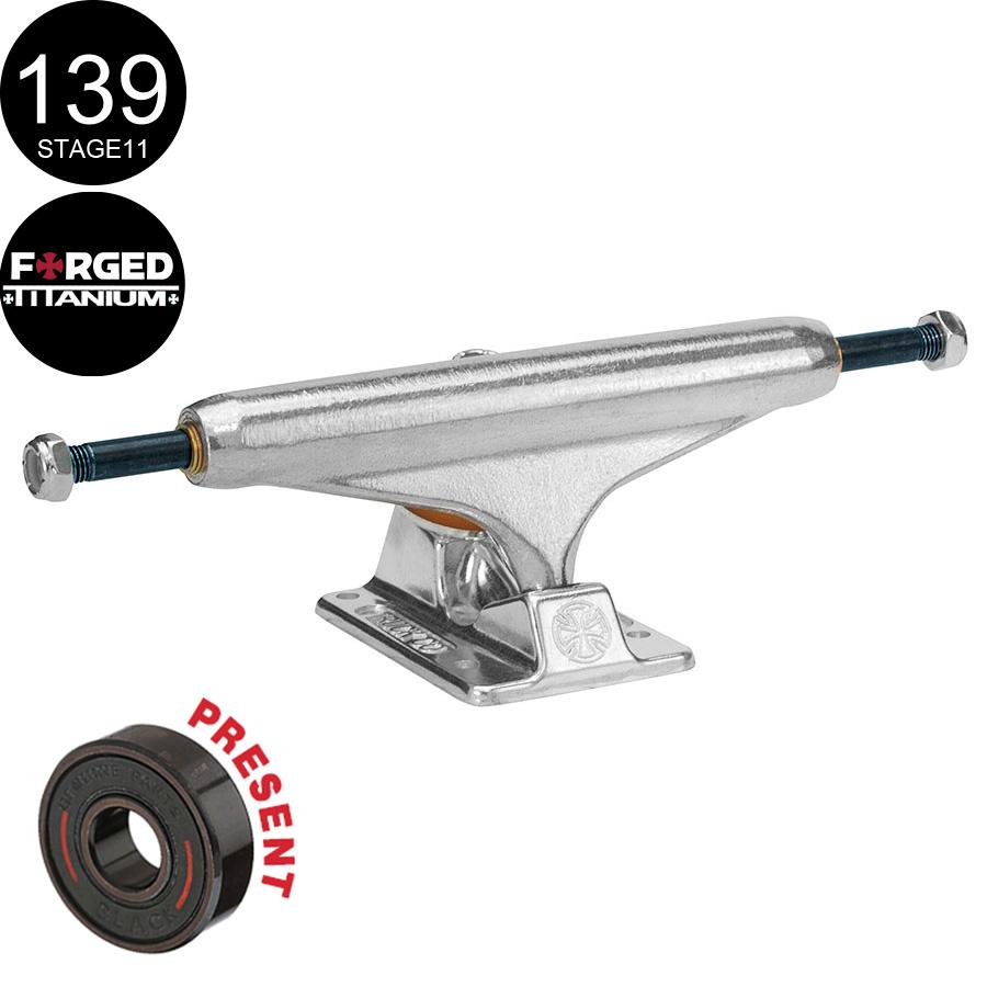 【INDEPENDENT インディペンデント】139 FORGED TITANIUM SILVER STANDARD TRUCKS(Stage11)トラック フォージド チタニウム スケートボード スケボー sk8 skateboard2個セット