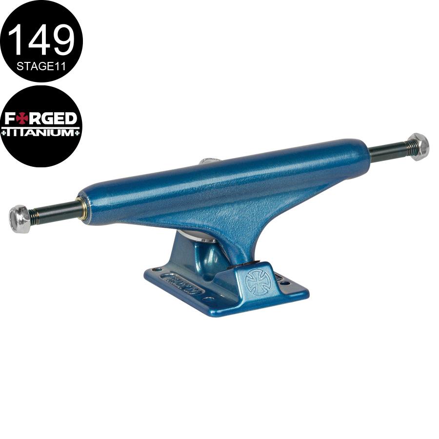 【INDEPENDENT インディペンデント】149 FORGED TITANIUM BLUE TRUCKS(Stage11)トラック フォージド チタニウム ブルー スケートボード スケボー sk8 skateboard2個セット【142】