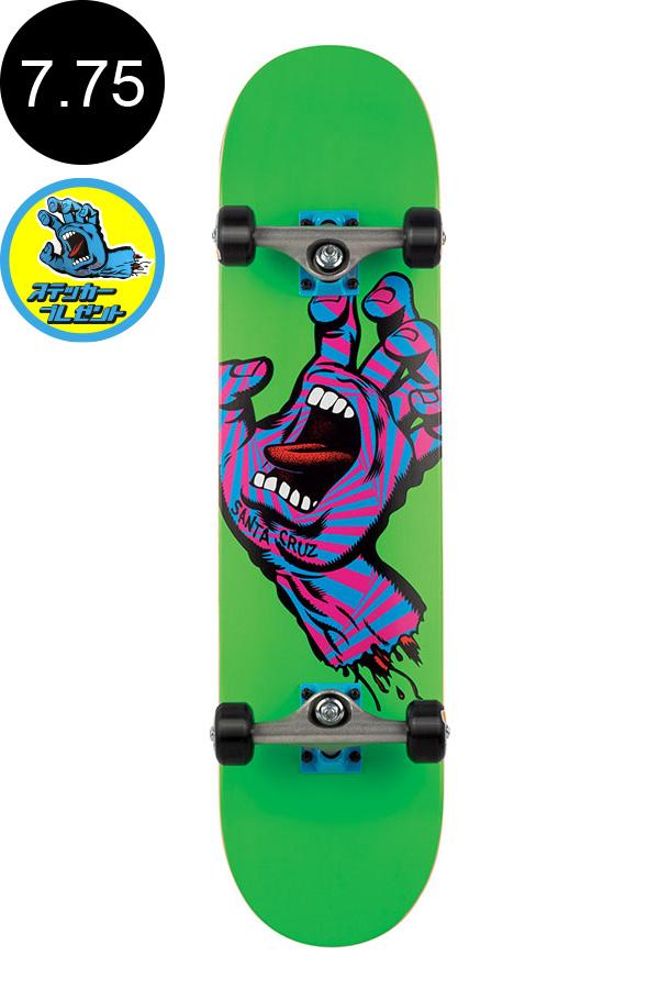 【SANTA CRUZ サンタクルーズ】7.75in x 31.4in SCREAMING PARTY HAND COMPLETEコンプリート(完成組立品) スケートボード エントリーモデル(初心者にもおすすめ)スケボー ストリート sk8 skateboard【1710】