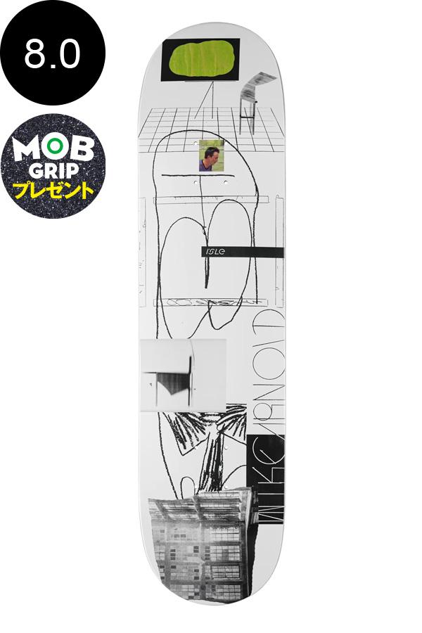 【ISLE アイル】8.0inch MIKE ARNOLD SCANNER SERIES DECKデッキ マイク・アーノルド スケートボード スケボー ストリート sk8 skateboardデッキテーププレゼント!【1912】