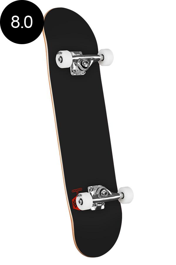 【MINI LOGO ミニロゴ】8.0in x 31.45in CHEVRON SKATEBOARD COMPLETE BLACKコンプリート(完成組立品)ブラック 黒色 初めて オススメ 初心者 スケートボード スケボー sk8 skateboard 【1812】