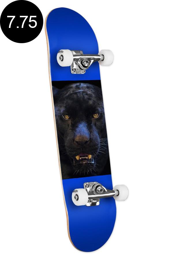 【MINI LOGO ミニロゴ】7.75in x 31.75in CHEVRON PANTHER EYES SKATEBOARD COMPLETEコンプリート(完成組立品)パンサー ヒョウ アニマル 初めて オススメ 初心者 スケートボード スケボー sk8 skateboard 【1909】
