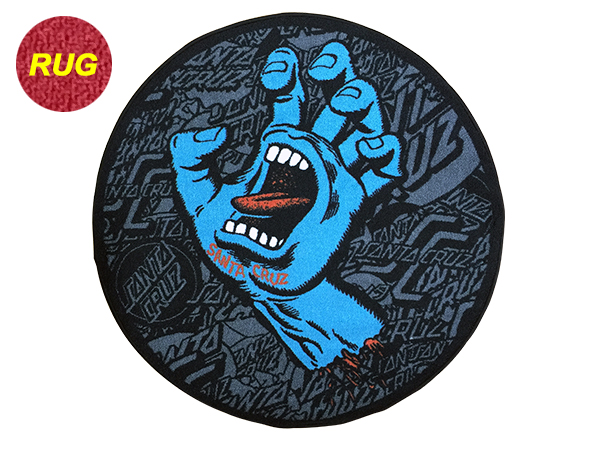 【SANTA CRUZ サンタクルーズ】SCREAMING HAND ROUND RUGラグマット スクリーミングハンド ラウンド カーペット インテリア スケートボード スケボー sk8 skateboard