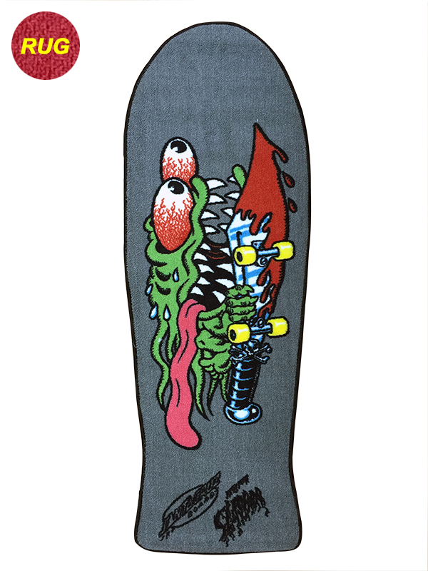 【SANTA CRUZ サンタクルーズ】SLASHER DECK RUGラグマット スラッシャー デッキ カーペット インテリア スケートボード スケボー sk8 skateboard