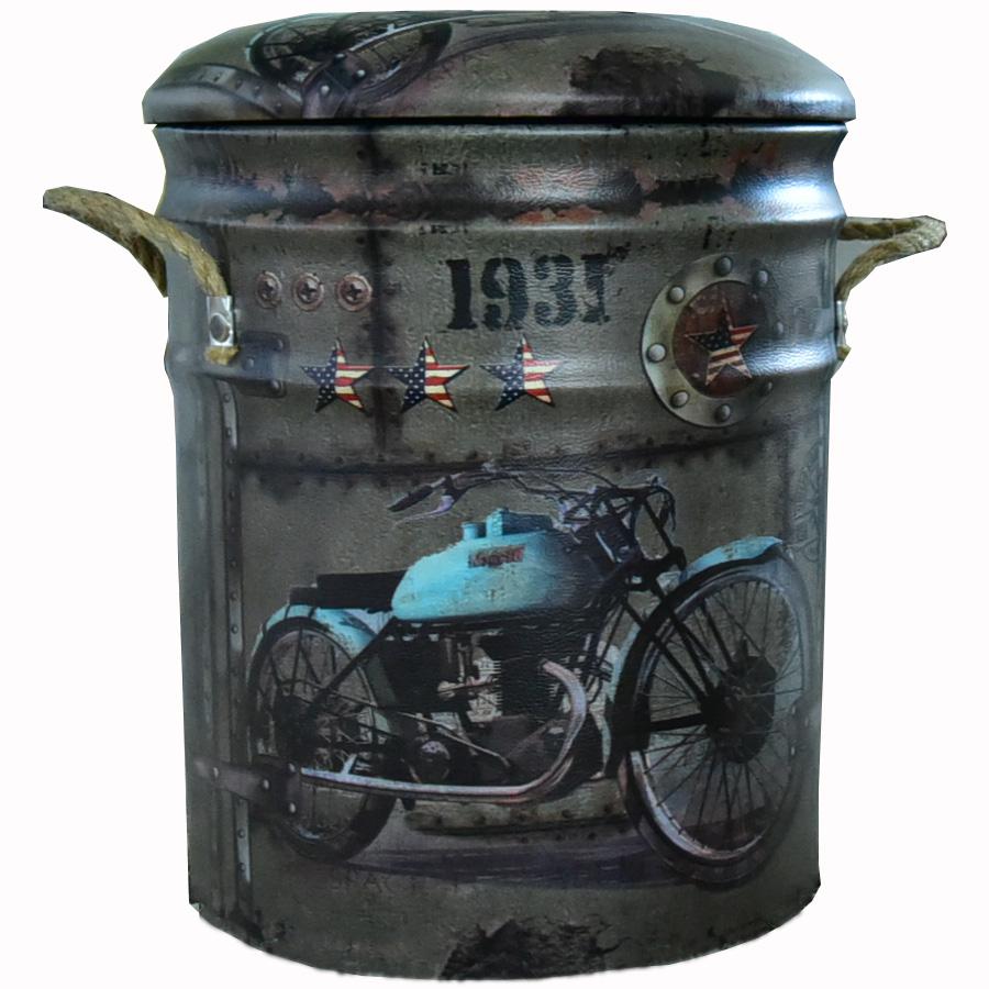 スツール 椅子 オイル缶スツール ガレージ ダメージ加工 ミリタリー アメリカン雑貨 ヴィンテージ レトロ インテリア