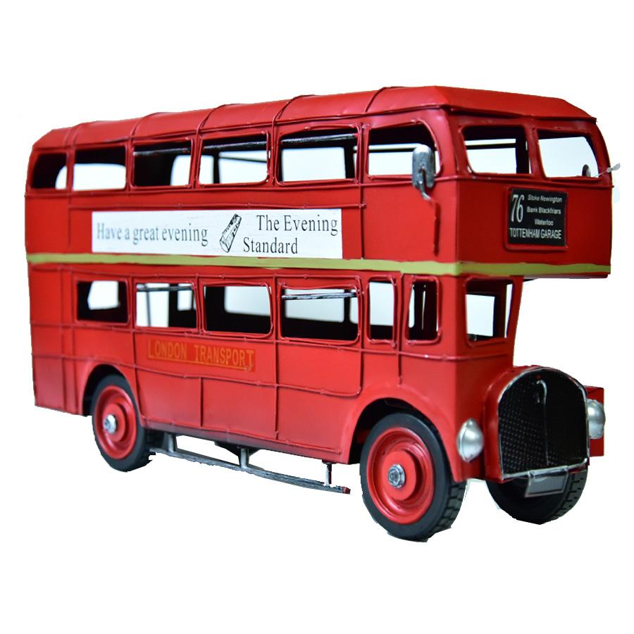 アメリカ雑貨 雑貨 バス 二階建てバス 最新 ミニカー レッド レトロ アメリカン雑貨 おもちゃ インテリア 二階建て レトロインテリア 置物 インテリア小物 ヴィンテージ ブリキのおもちゃ 春の新作 pr6 オブジェ