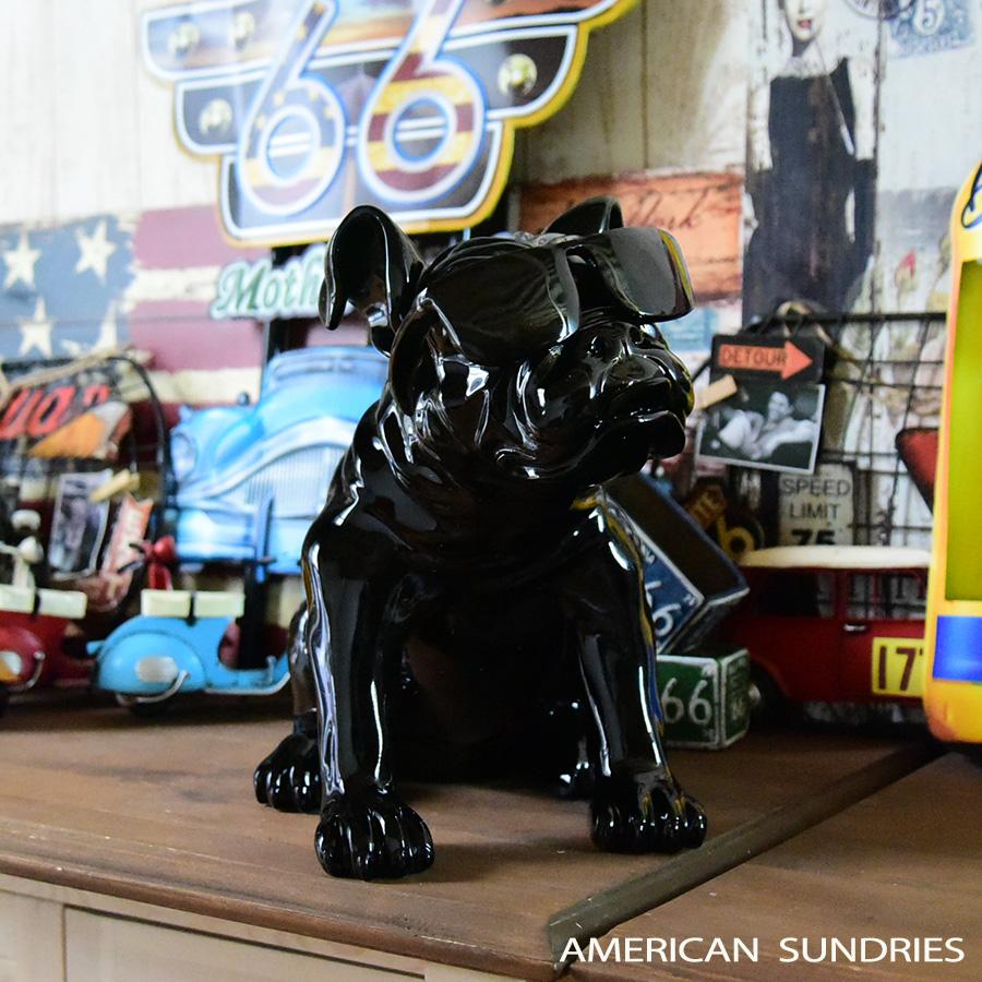 スーパーセール期間限定 アメリカン雑貨 アメリカ雑貨 雑貨 ブルドック 動物 インテリア モダン オブジェ ブラック プレゼント pr9 置物 可愛い おしゃれ 秀逸