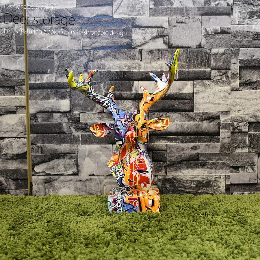 正規品送料無料 アメリカン雑貨 ご注文で当日配送 アメリカ雑貨 雑貨 鹿 動物 インテリア モダン 置物 カラフル pr10 可愛い マルチカラー オブジェ おしゃれ プレゼント