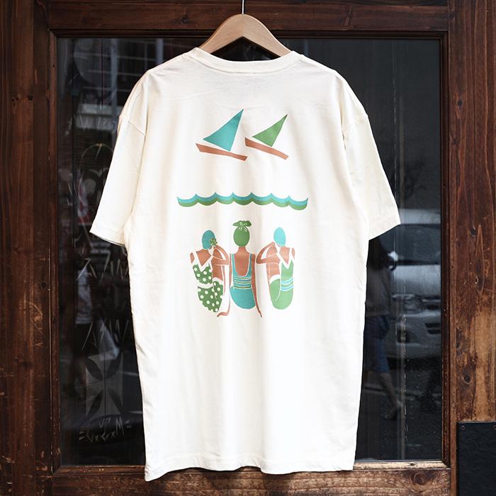 Miss Ladybug ミスレディーバグ / 「Swimmer Back print Front Pocket Tee」 unisex Tシャツ / レディース / ウィメンズ / ユニセックス / 半袖 / カリフォルニア / ストリート / カジュアル / アメカジ