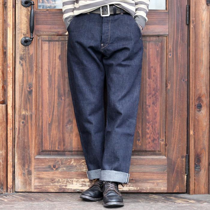 TROPHY CLOTHING トロフィークロージング / 「1504 Early Authentic Denim」 オーセンティックデニムパンツ / MEN'S メンズ / デニム / パンツ / ワンウォッシュ / 14.5oz / ワーク / カジュアル / アメカジ