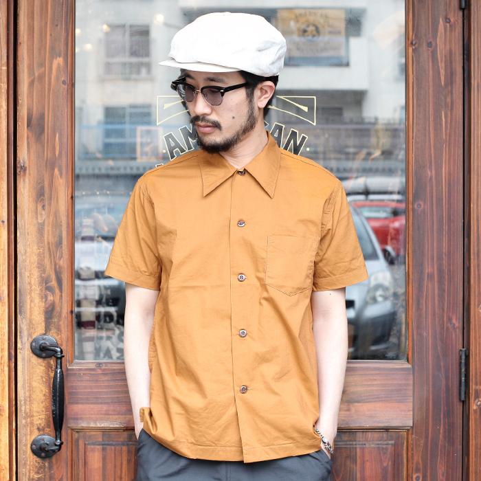 TROPHY CLOTHING トロフィークロージング / 「Skipper Shirt」 コットンシャツ / MEN'S メンズ / ボックス / 無地 / 半袖 / ワーク / カジュアル / アメカジ