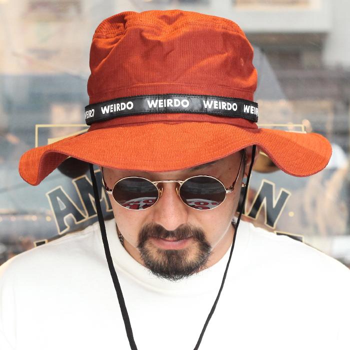 WEIRDO ウィアード / 「WEIRDO - JUNGLE HAT」 ジャングルハット / MEN'S メンズ / ハット / バケット / 帽子 / 無地 / 刺繍 / アウトドア / カジュアル / アメカジ