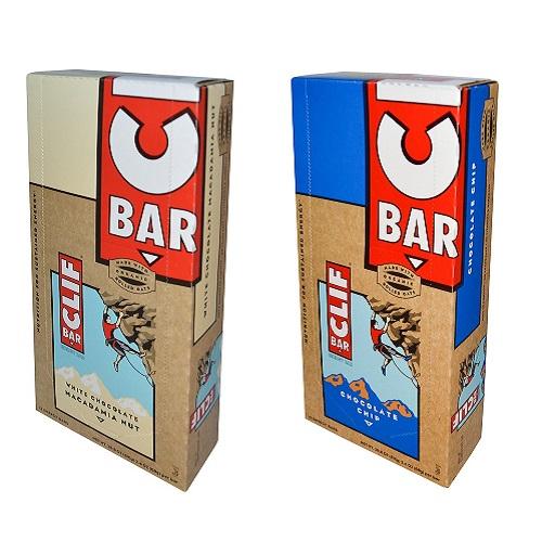 大豆由来のオーガニックプロテインバーClif Energy Bar Variety set クリフバー エナジー バラエティ パック 24 Bars (チョコレートチップ&ホワイトチョコマカダミアナッツ)