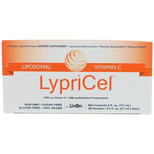 【送料無料】オトクな2箱セット!Lypricel Liposomal Vitamin C, 30 Packets リプリセル ビタミンC 30包 リプライセル