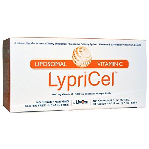 オトクな10箱セット!Lypricel Liposomal Vitamin C, 30 Packets リプリセル ビタミンC 30包